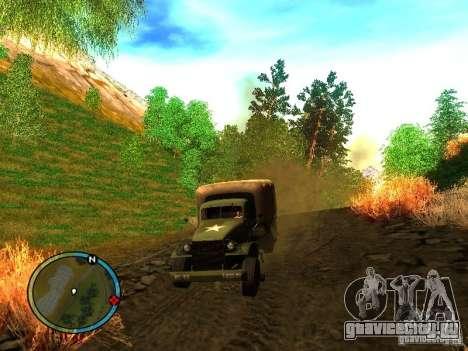 Millitary Truck from Mafia II для GTA San Andreas вид сзади слева