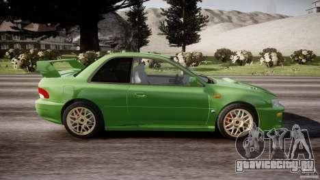 Subaru Impreza 22b 1998 (final) для GTA 4 вид изнутри