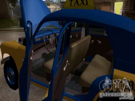 ГАЗ М20 Победа Такси для GTA San Andreas вид сбоку