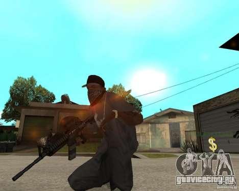 Очень качественная м16 для GTA San Andreas третий скриншот
