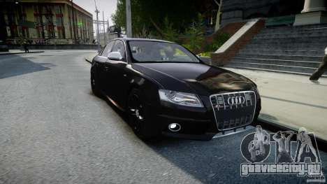 Audi S4 Unmarked [ELS] для GTA 4 вид сзади