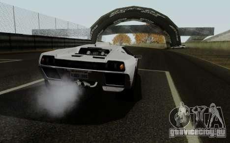 Lamborghini Diablo GTR TT Black Revel для GTA San Andreas вид сзади слева