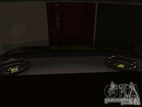 Ваз 2106 (Золотой) для GTA San Andreas вид изнутри
