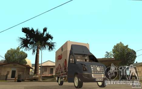 Volkswagen Crafter Ice Dream Box для GTA San Andreas вид сзади