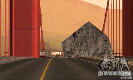 Разрушенный мост в San Fierro для GTA San Andreas третий скриншот