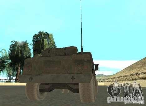 Hummer Cav 033 для GTA San Andreas вид сзади слева