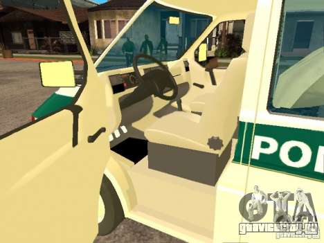 Volkswagen Transporter T4 Bosnian police для GTA San Andreas вид слева