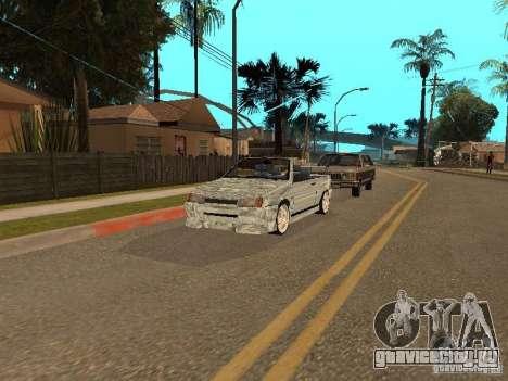 ВАЗ 2108 Кабриолет для GTA San Andreas вид сзади