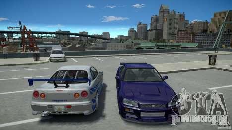 Nissan Skyline GT-R R34 Fast and Furious 4 для GTA 4 вид сверху