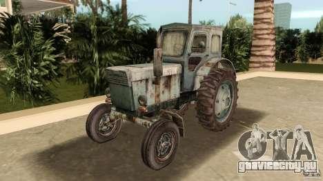 Трактор Т-40 для GTA Vice City вид сзади