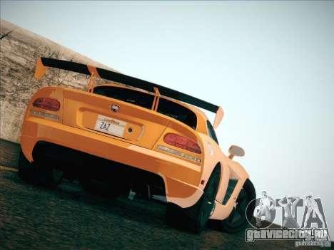 Dodge Viper SRT-10 ACR для GTA San Andreas вид сбоку