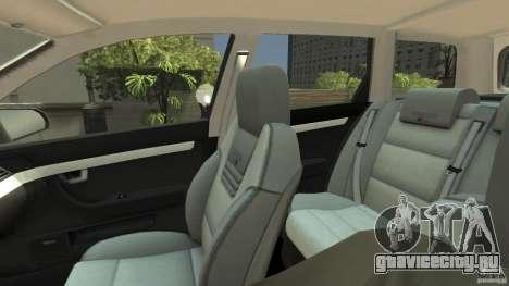 Audi A4 Avant beta для GTA 4 вид изнутри