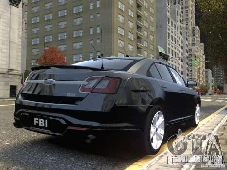 Ford Taurus FBI 2012 для GTA 4 вид сзади