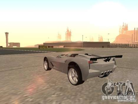 Chevrolet Corvette C7 Spyder для GTA San Andreas вид справа