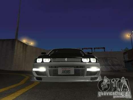 Nissan Skyline R33 SGM для GTA San Andreas вид изнутри