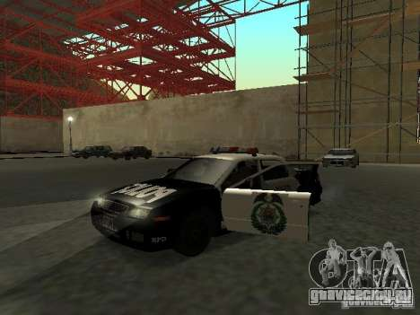 Police Civic Cruiser NFS MW для GTA San Andreas вид слева