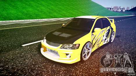 Mitsubishi Lancer Evolution для GTA 4 вид сзади