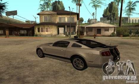 Ford Mustang Shelby 2010 для GTA San Andreas вид слева