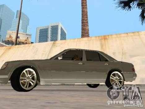 Mercedes-Benz W124 E500 для GTA San Andreas вид сзади слева