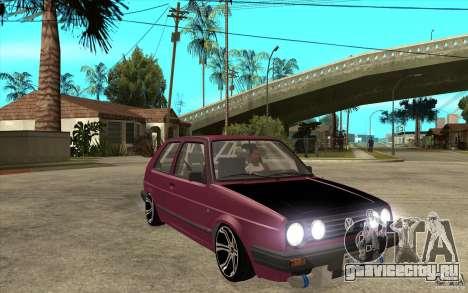 VW Golf 2 GTI для GTA San Andreas вид сзади