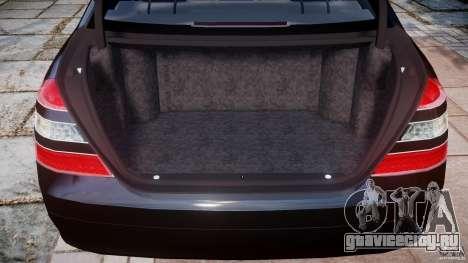Mercedes-Benz S600 w221 для GTA 4 вид сбоку