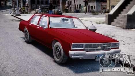 Chevrolet Impala 1983 v2.0 для GTA 4 вид сзади