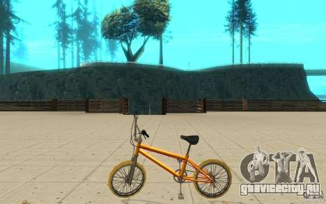 Zeros BMX YELLOW tires для GTA San Andreas вид слева