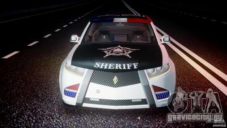 Carbon Motors E7 Concept Interceptor Sherif ELS для GTA 4 двигатель