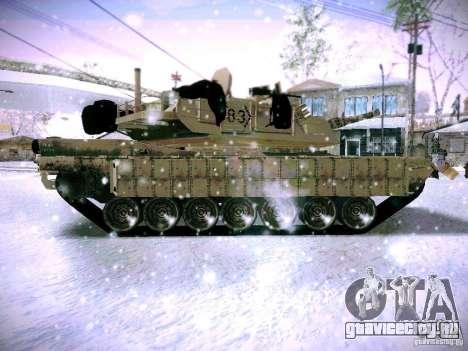 M1A2 Abrams из Battlefield 3 для GTA San Andreas вид слева