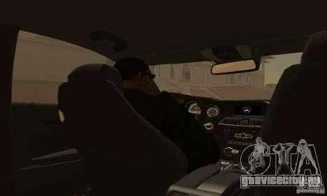 Mercedes-Benz C63 AMG для GTA San Andreas вид сбоку
