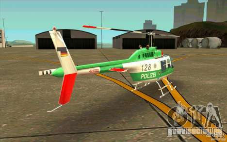 Bell 206 B Police texture3 для GTA San Andreas вид справа
