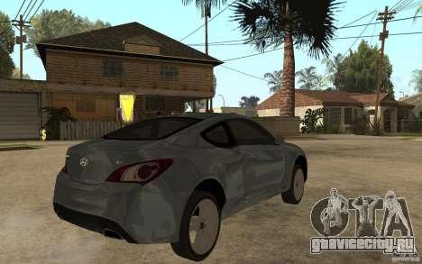 Hyundai Genesis Coupe 2010 для GTA San Andreas вид справа