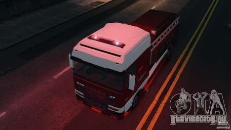 DAF XF Firetruck для GTA 4 вид справа
