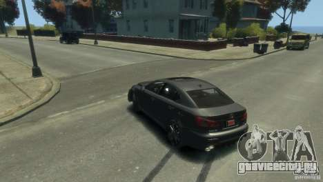 Lexus IS F для GTA 4 вид сверху