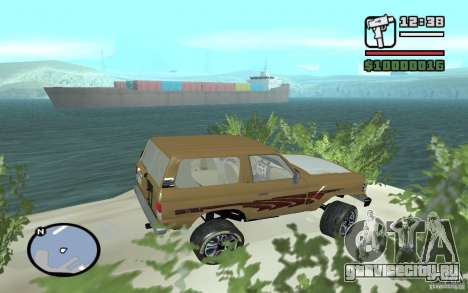 Toyota Land Cruiser 70 для GTA San Andreas вид слева