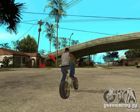 WideWheel-BMX 1 LOUIS VUITTON Version для GTA San Andreas вид сзади слева
