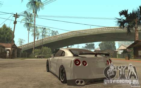 Nissan GTR SpecV 2010 для GTA San Andreas вид сзади слева