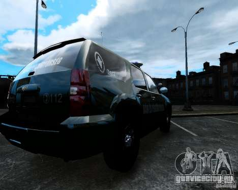 Chevrolet Tahoe Hungarian Vam-Zoll Custom для GTA 4 вид слева