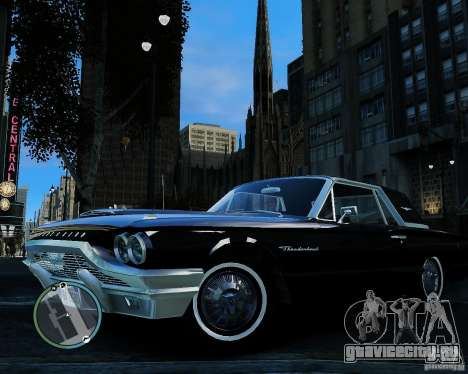 Ford ThunderBird 1964 для GTA 4 вид сзади