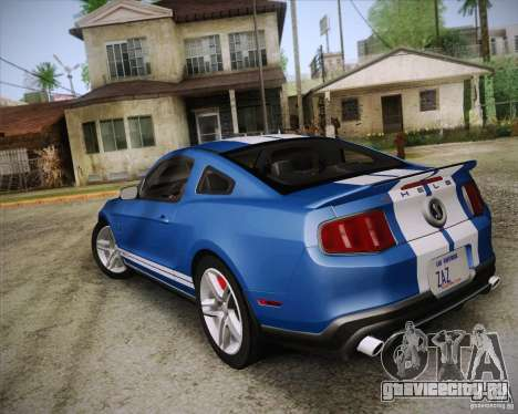 Ford Shelby GT500 2011 для GTA San Andreas вид слева