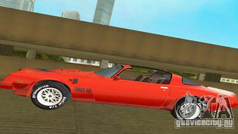 Pontiac Trans Am 77 для GTA Vice City вид сбоку