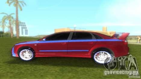 Audi A4 STREET RACING EDITION для GTA Vice City вид сзади слева