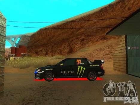 Subaru Impreza Gymkhana Practice для GTA San Andreas вид справа