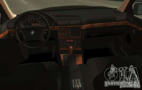 BMW 750i E38 1998 M-Packet для GTA 4 вид сзади