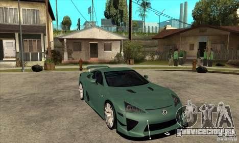 Lexus LFA 2010 для GTA San Andreas вид сзади