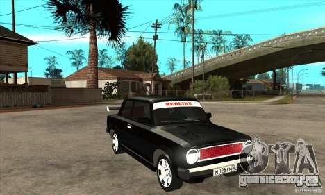 ВАЗ 2101 2-ух дверное купе для GTA San Andreas вид сзади