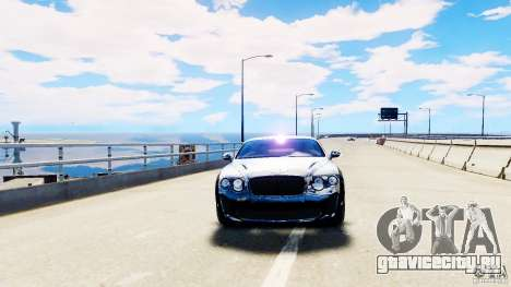 Bentley Continental SuperSports v2.5 для GTA 4 вид справа