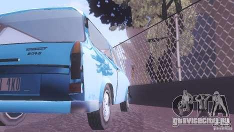 Trabant 601S для GTA San Andreas вид изнутри