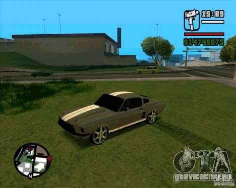 Ford Mustang 67 HotRot для GTA San Andreas вид справа