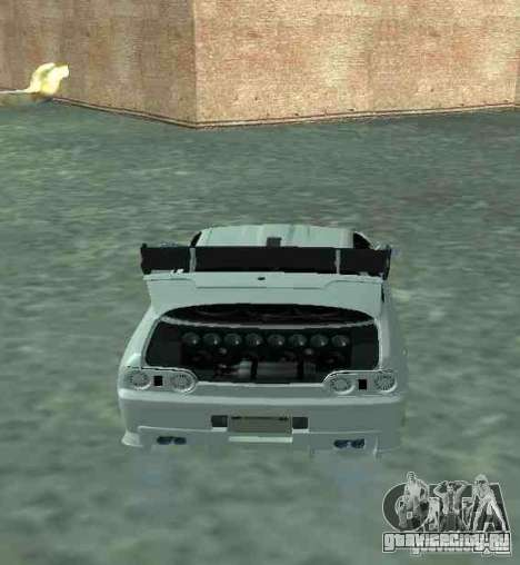 Nissan Skyline R32 GT-R для GTA San Andreas вид изнутри